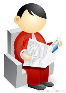 Business Person Reading